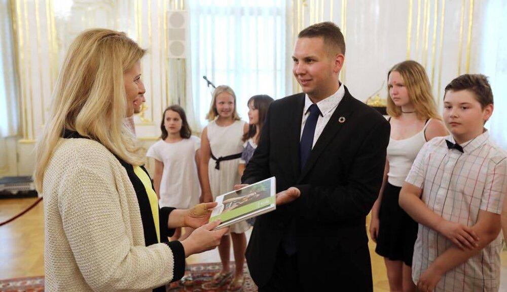 Prijatie Mladých reportérov pre životné prostredie u prezidentky v júni 2019.