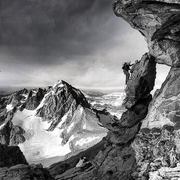 Hrebeň s názvom Petzoldt Ridge v americkom parku Grand Teton.