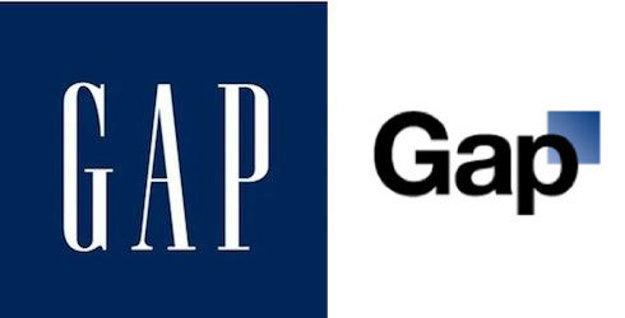 Gap - staré a navrhované nové logo