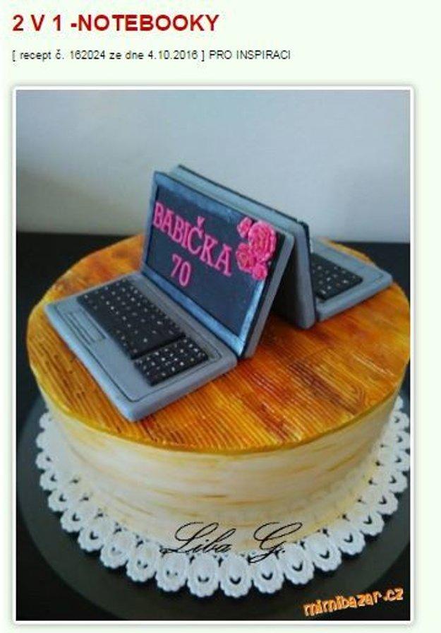 notebook torta Mimibazar.cz