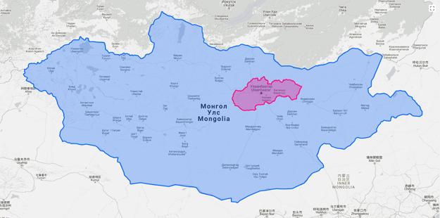 Mongolsko v porovnaní so Slovenskom