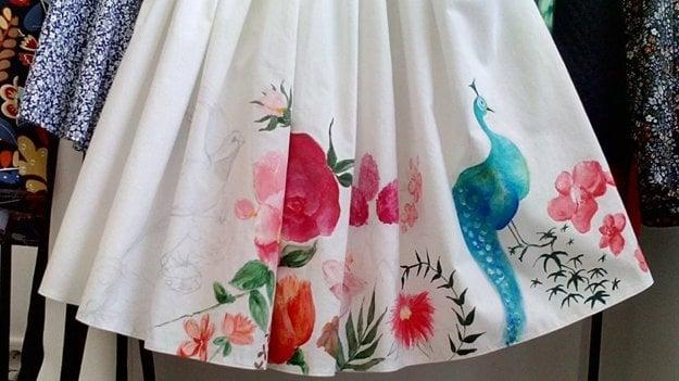 Pokusná maľovaná sukňa z dielne Princesy.