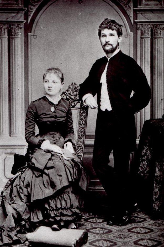 Janáček s manželkou