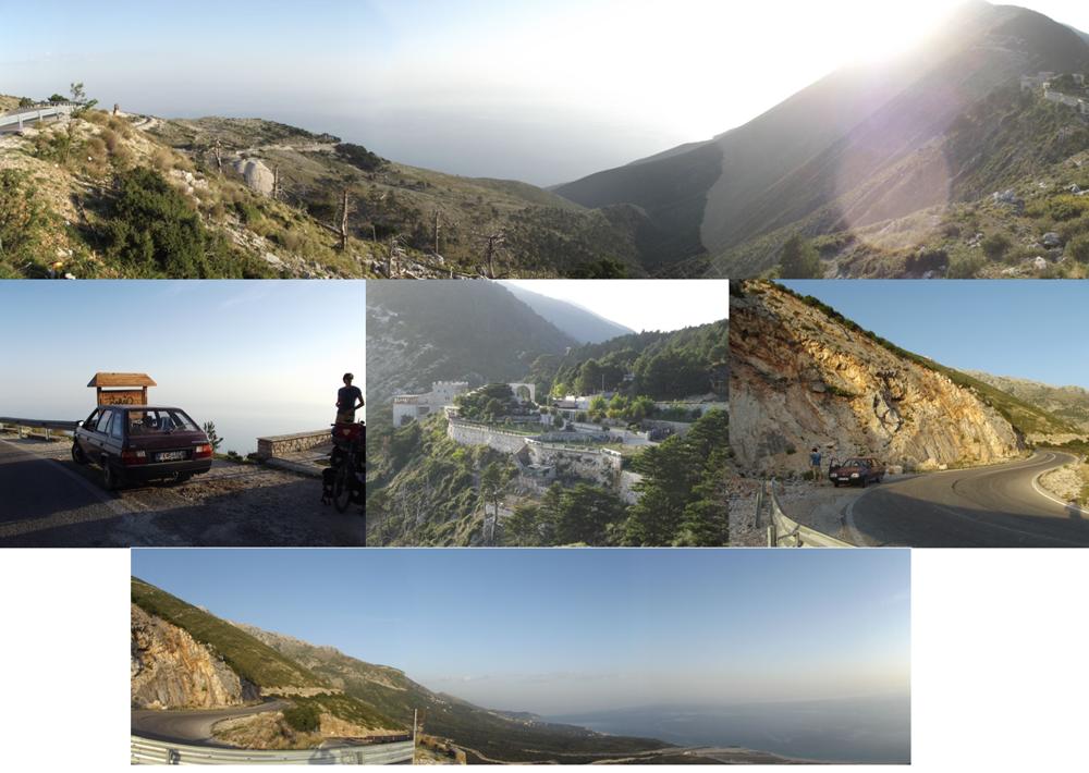 Cesta medzi Vlore a Himare