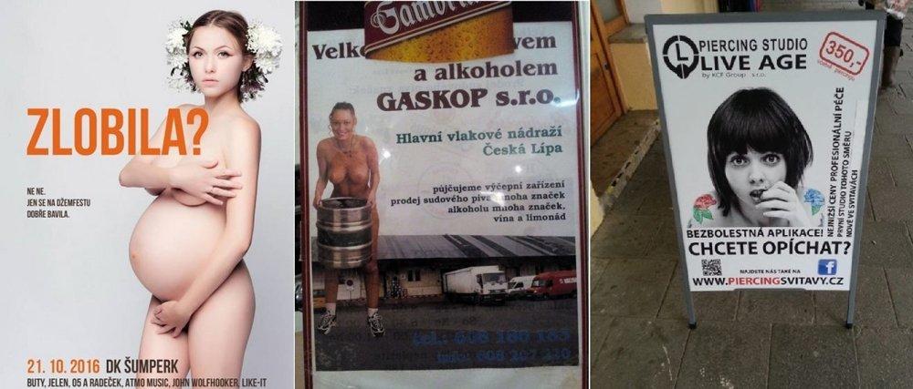 Príklady reklám, ktoré bodovali v českej anticene Sexistické prasátečko.