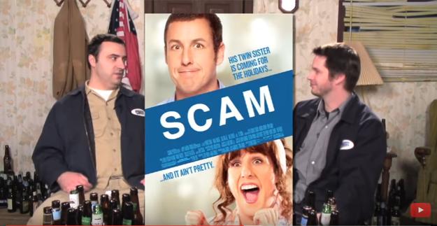 Mika Stoklasa (vľavo) a Jay Bauman diskutujú o filme, titulok na plagáte zmenený na