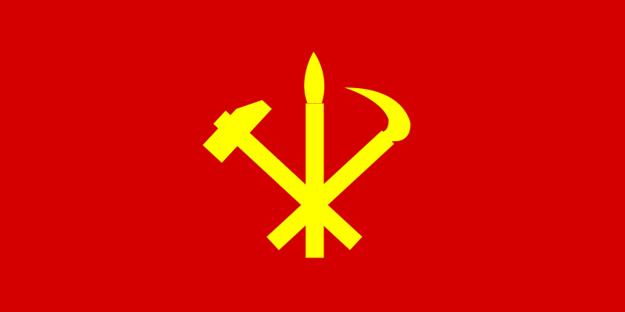 Vlajka Kórejskej strany práce