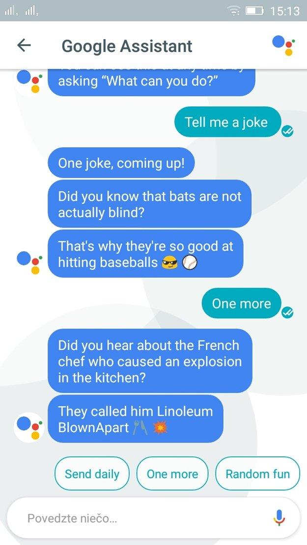 Google Assistant a jeho slovné hračky
