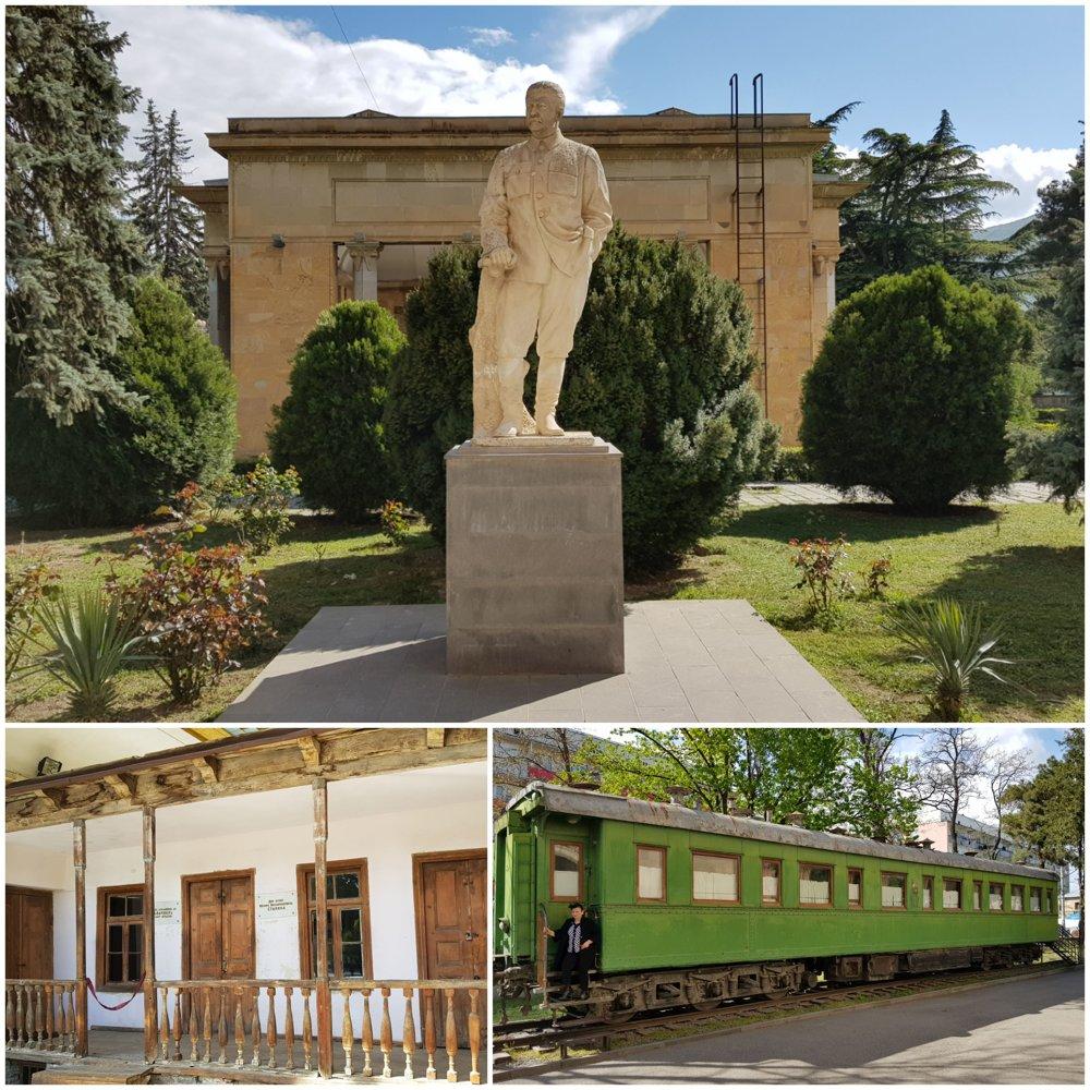 Stalinov rodný dom a jeho osobný vagón