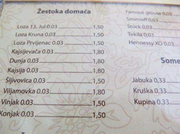 Opiť sa v Čiernej Hore je luxus
