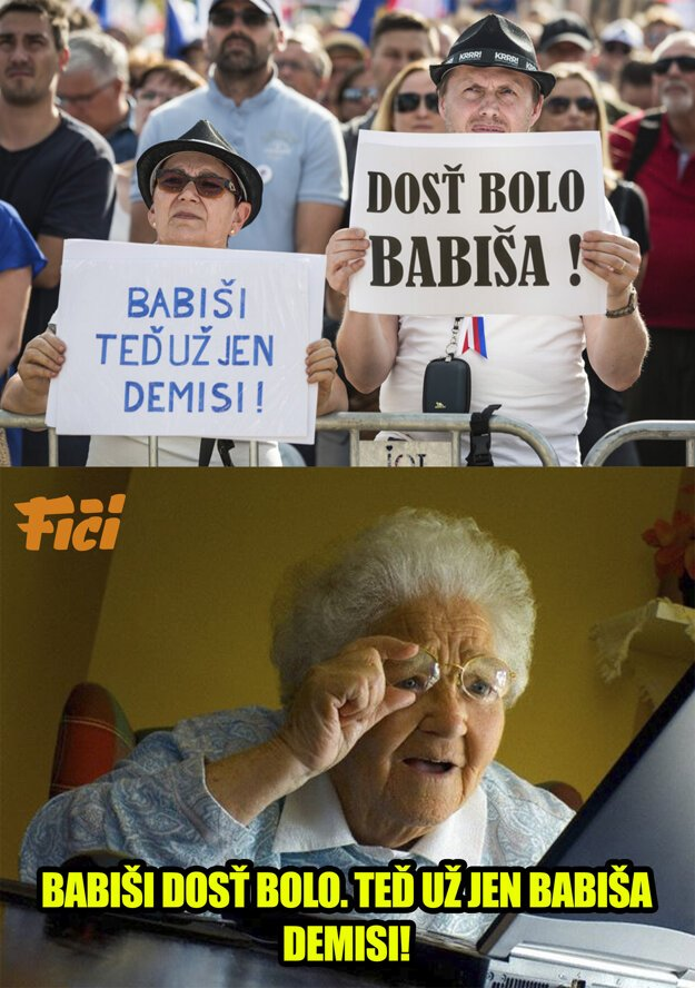 Demonstracia na Letnej meme