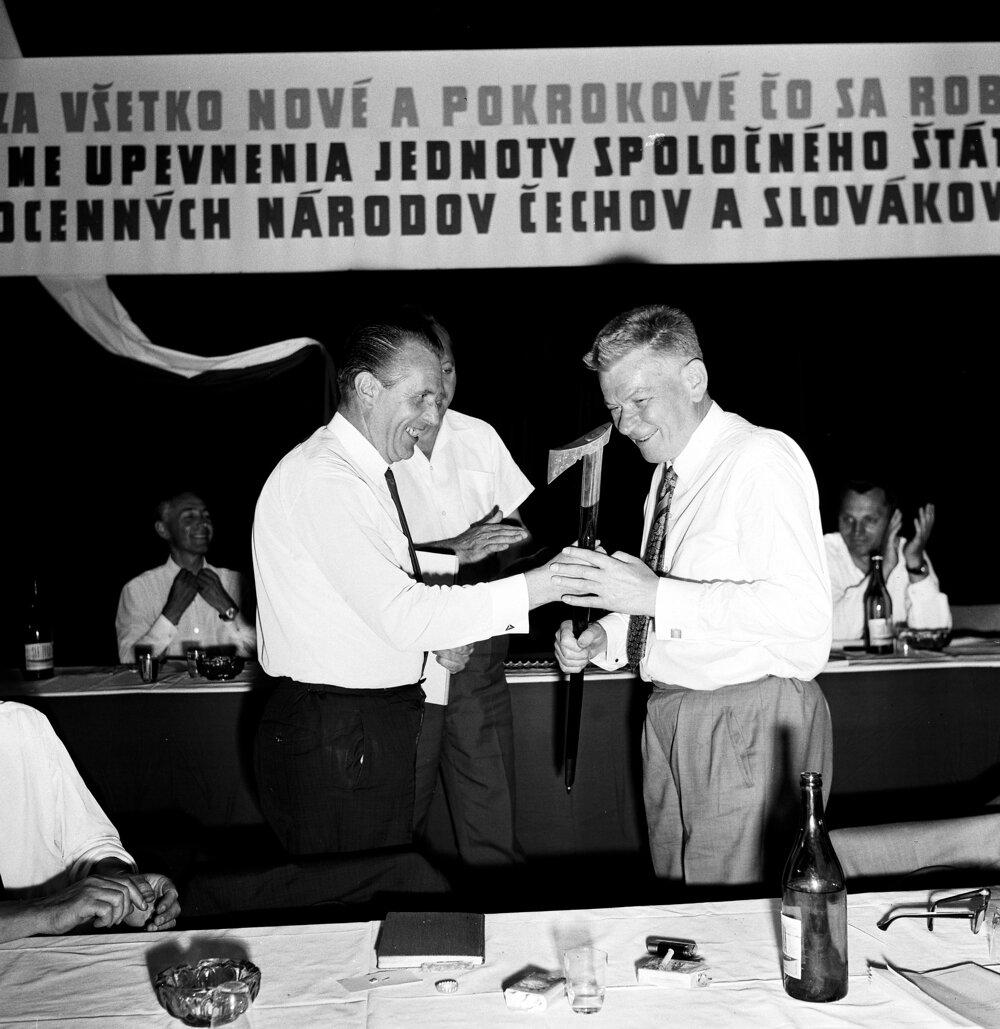 Oficiálna návšteva predsedu Národného zhromaždenia Josefa Smrkovského na Slovensku 3.-4.júla 1968.