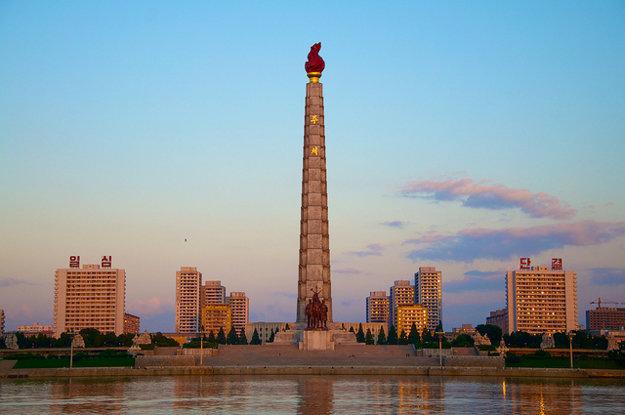Veža Čučche v Pchjongjangu