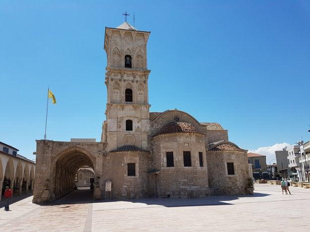 Pravoslávny chrám v meste Larnaka v Cyperskej Republike