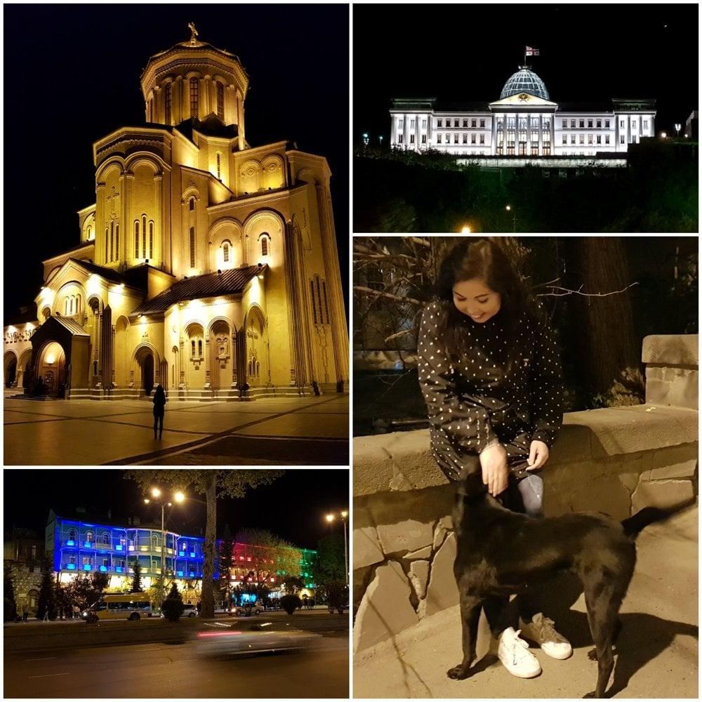 Nočné Tbilisi