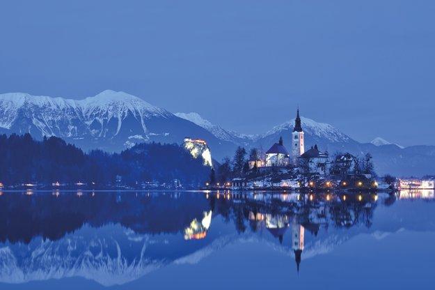 Jazero Bled počas fotografickej
