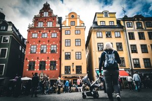 Október 2019 - Námestie Stortorget v Štokholme