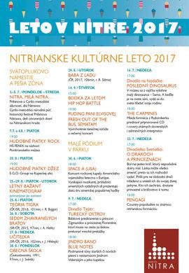 Nitrianske kultúrne leto 2017