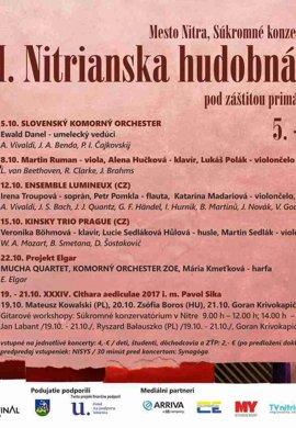 XII. Nitrianska hudobná jeseň 2017