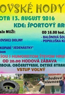 Obec Župkov srdečne pozýva na Župkovské hody 2016.