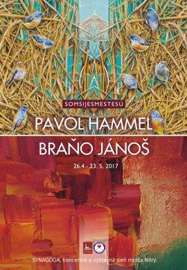 Pavol Hammel a Braňo Jánoš: Somsijesmestesú (maľba)