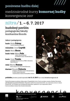 Medzinárodné kurzy komornej hudby Konvergencie 2017