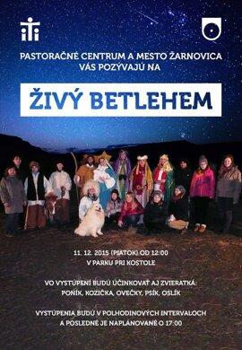 Živý Betlehem v Žarnovici.