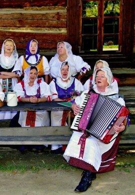 Spevácka skupiny FS Hradisko.