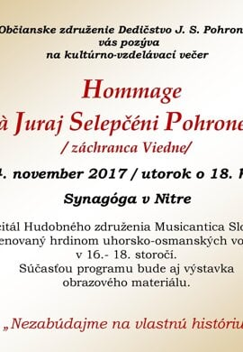 Hommage à Juraj Selepčéni-Pohronec