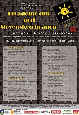 Divadelné dni pod Slovenskou bránou.