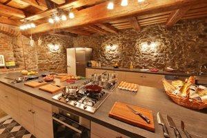 Kuchyňa školy varenia.