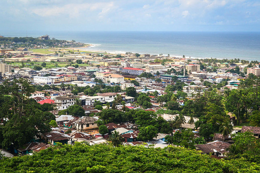Monrovia v Sierra Leone.