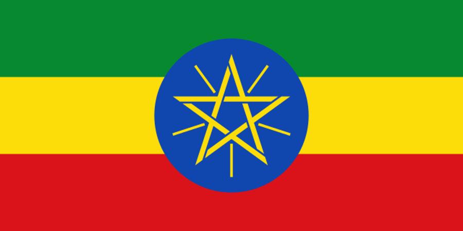 Štátny znak je aj súčasťou etiópskej zástavy.
