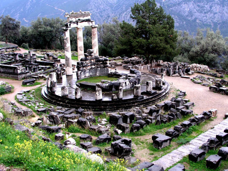 Ruiny v Delfách.