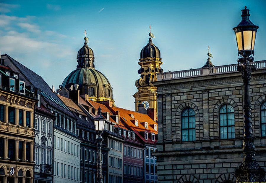 Mníchov, Residenzstraße v prvých ranných lúčoch.