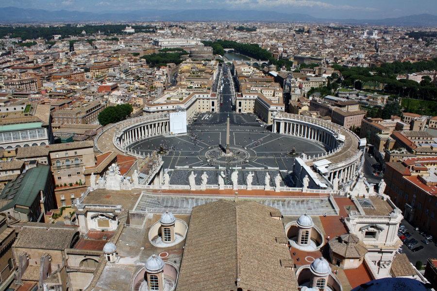 Výhľad z baziliky sv. Petra.