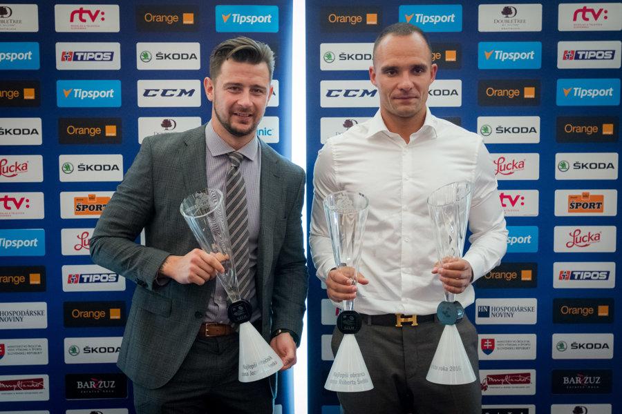 Andrej Sekera (vpravo).