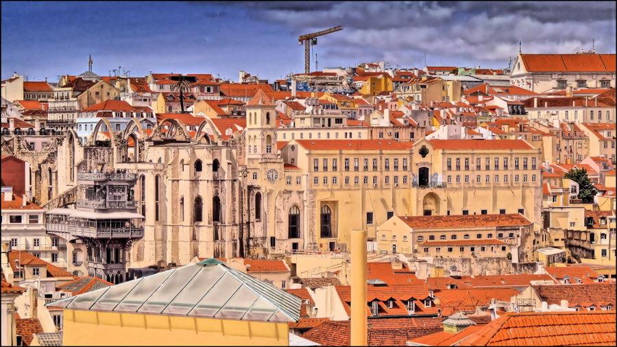 Historický Lisabon.