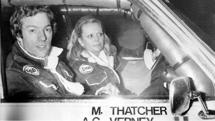 Mark Thatcher a jeho francúzska kopilotka Anne-Charlotte Verney.