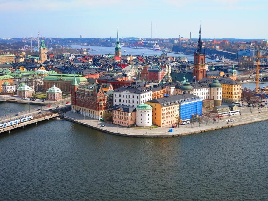 Švédska metropola Štokholm.