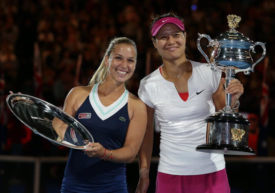 Dominika Cibulková po finále Australian Open 2014.