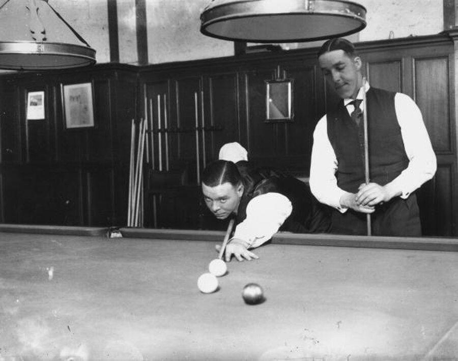 Joe Davis (vľavo) a Tom Newman v roku 1928.