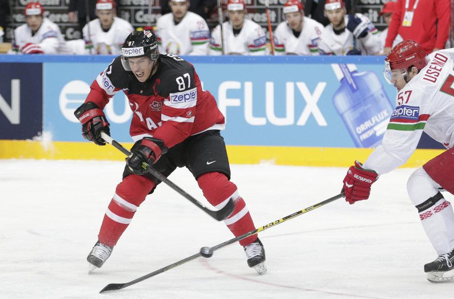 Proti Lotyšom skóroval aj hviezdny útočník Sidney Crosby.