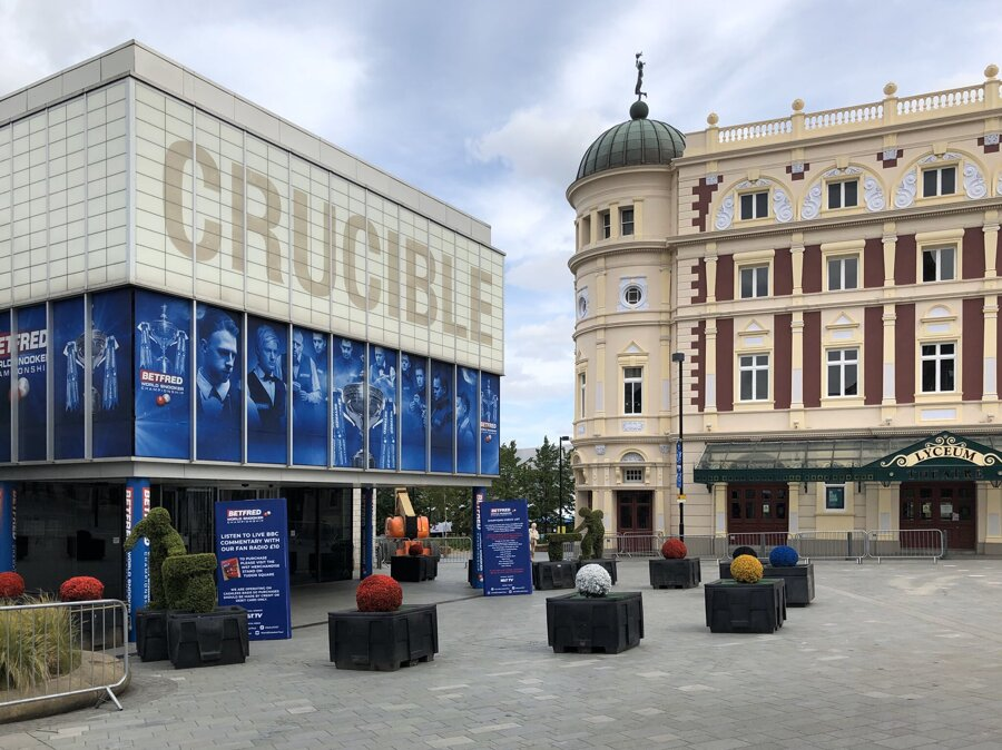 Divadlo Crucible v Sheffielde, v ktorom sa pravidelne konajú MS v snookri.