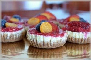 Ovocné minicheesecakes