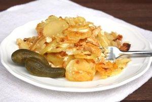 Zapekané zemiaky s mäsom
