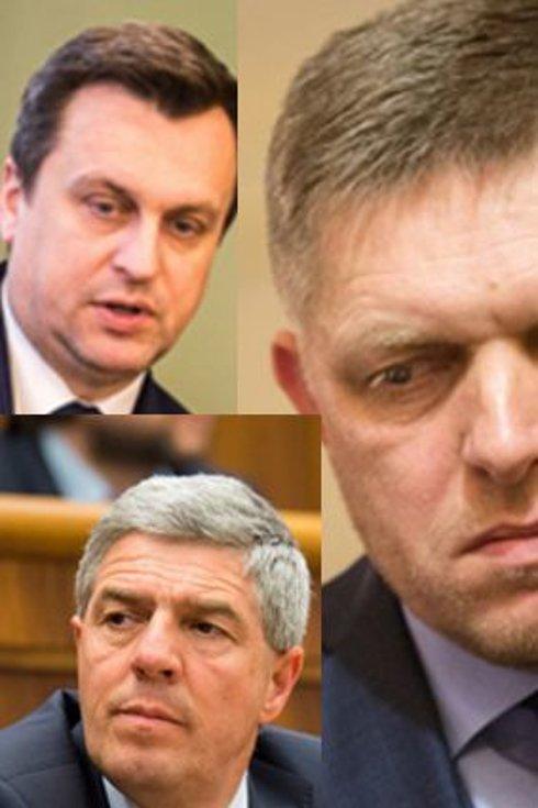 Predsedovia koaličných strán
