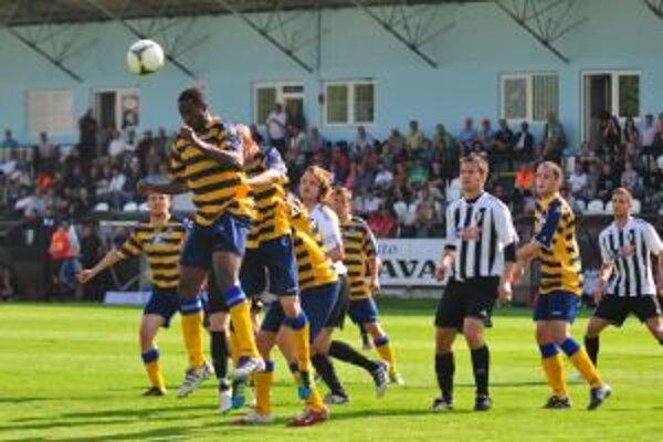 Zo zápasu Myjava - Moldava, ktorý sa skončil výsledkom 2 : 0 pre domácich.