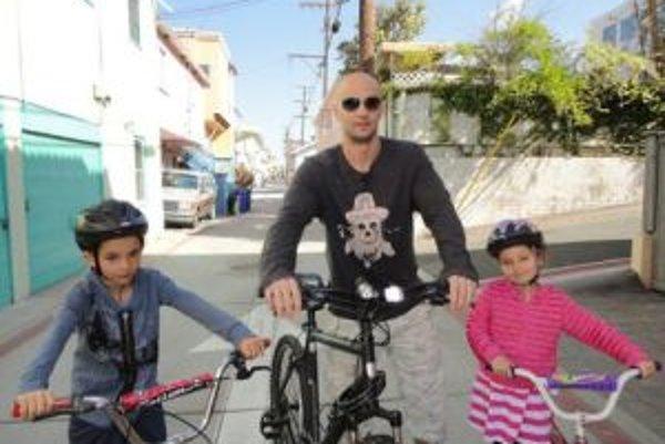 Pavol Demitra s deťmi na tohtoročnej dovolenke.