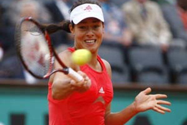 Ana Ivanovičová zo Srbska sa po turnaji Roland Garros môže stať svetovou jednotkou.